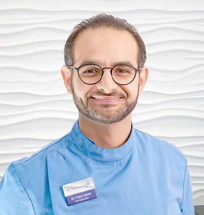 <strong>DR F SALEH</strong><br/> Specialist in Periodontics